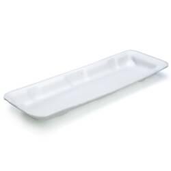 Bandeja blanca EPS rectangular larga